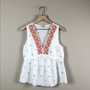 NWT Lucky Brand Embroidered Tank Top (Small)